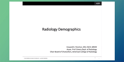Review of the Changing Radiology Marketplace Screenshot