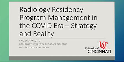 Radiology Residency Program Management in the COVID Era Screenshot