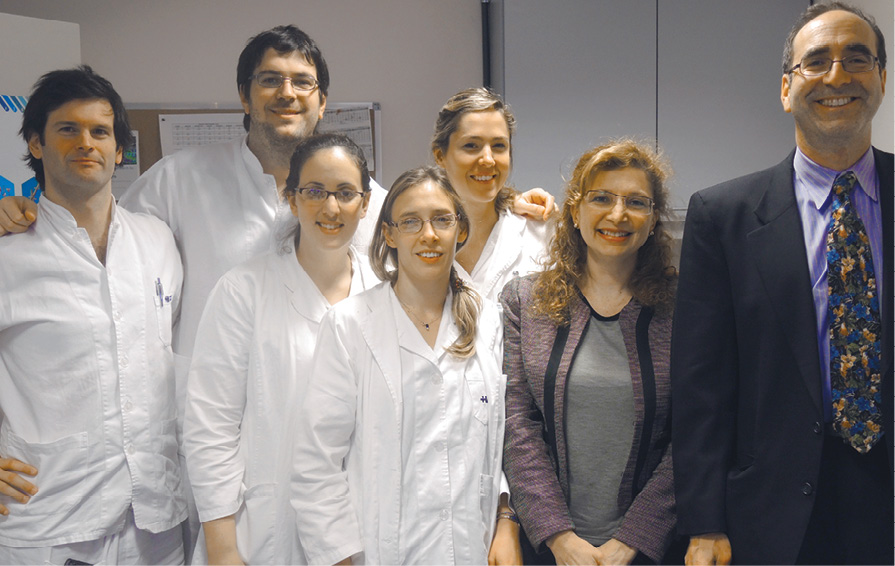 Radiology colleagues during their visit to Hospital Alemán in Buenos Aires