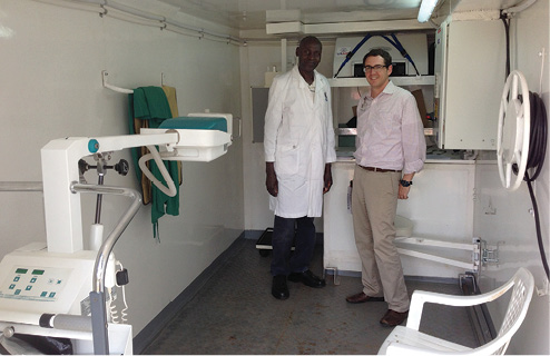 The specially designed mobile X-ray truck reaches patients in underserved areas of Kenya.