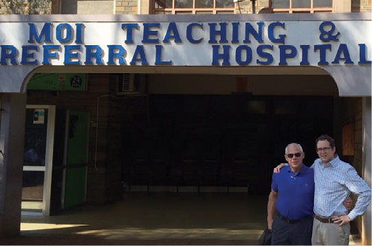 Along with manning the digital X-ray truck during frequent excursions to Kenya, David Avrin, M.D., Ph.D.