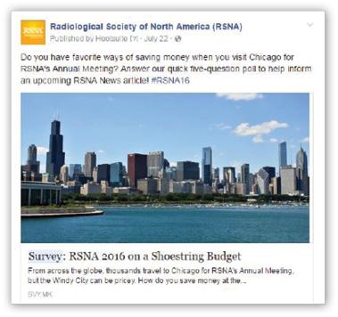 RSNA Facebook post