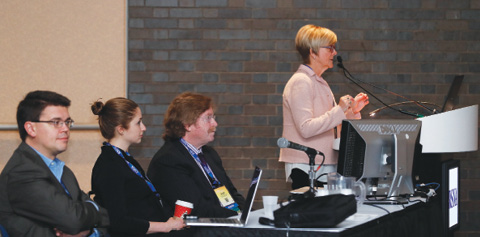 Susan John, MD, in a panel discussion on methods and tools for improving the patient interactions that define patient-centered care during an RSNA 2016 session