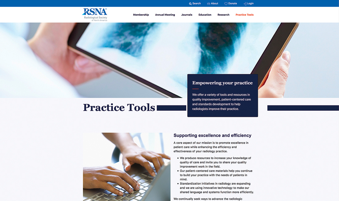 Practice Tools page screenshot