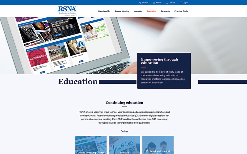 Website redesign screenshot