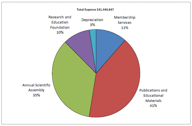 2012 Total Expense pie chart