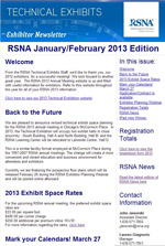 Exhibitor Newsletter