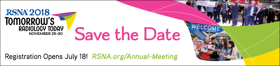 RSNA 2018 Save The Date