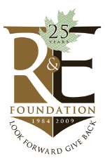 R&E 25th anniversary logo