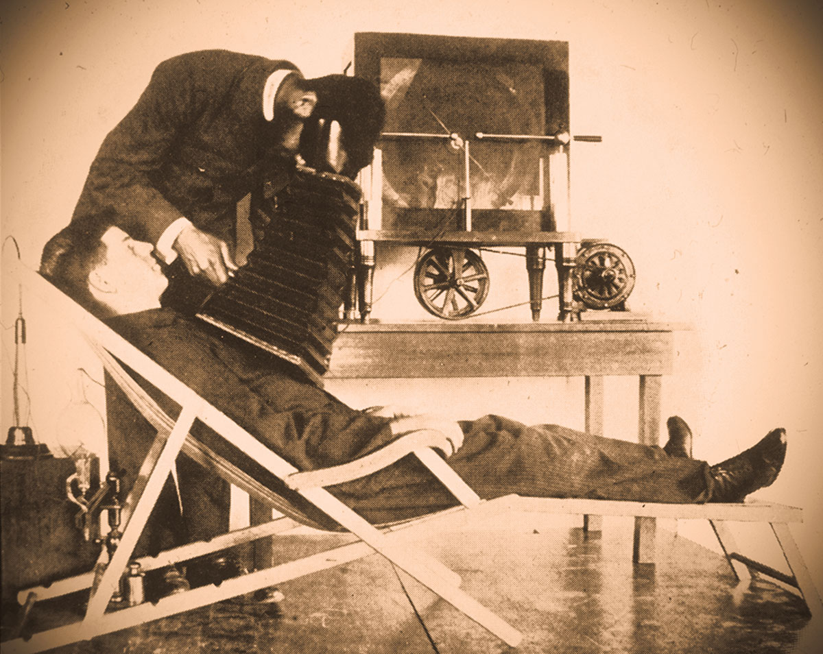 History of Radiology: early posteroanterior fluoroscopy examination