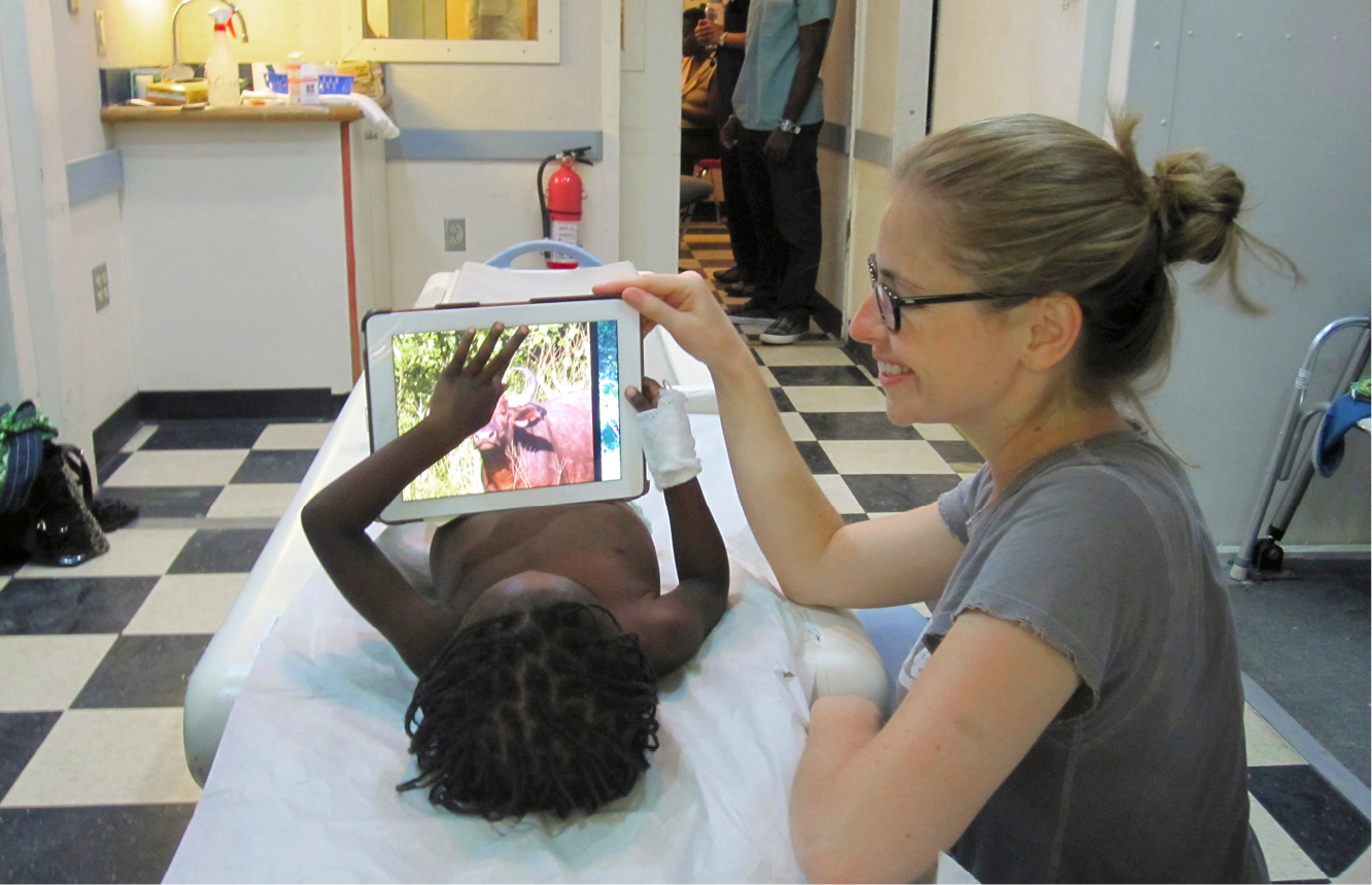 In Haiti, Alexandra Fairchild, M.D., a second-year radiology resident from Brigham and Women's Hospital