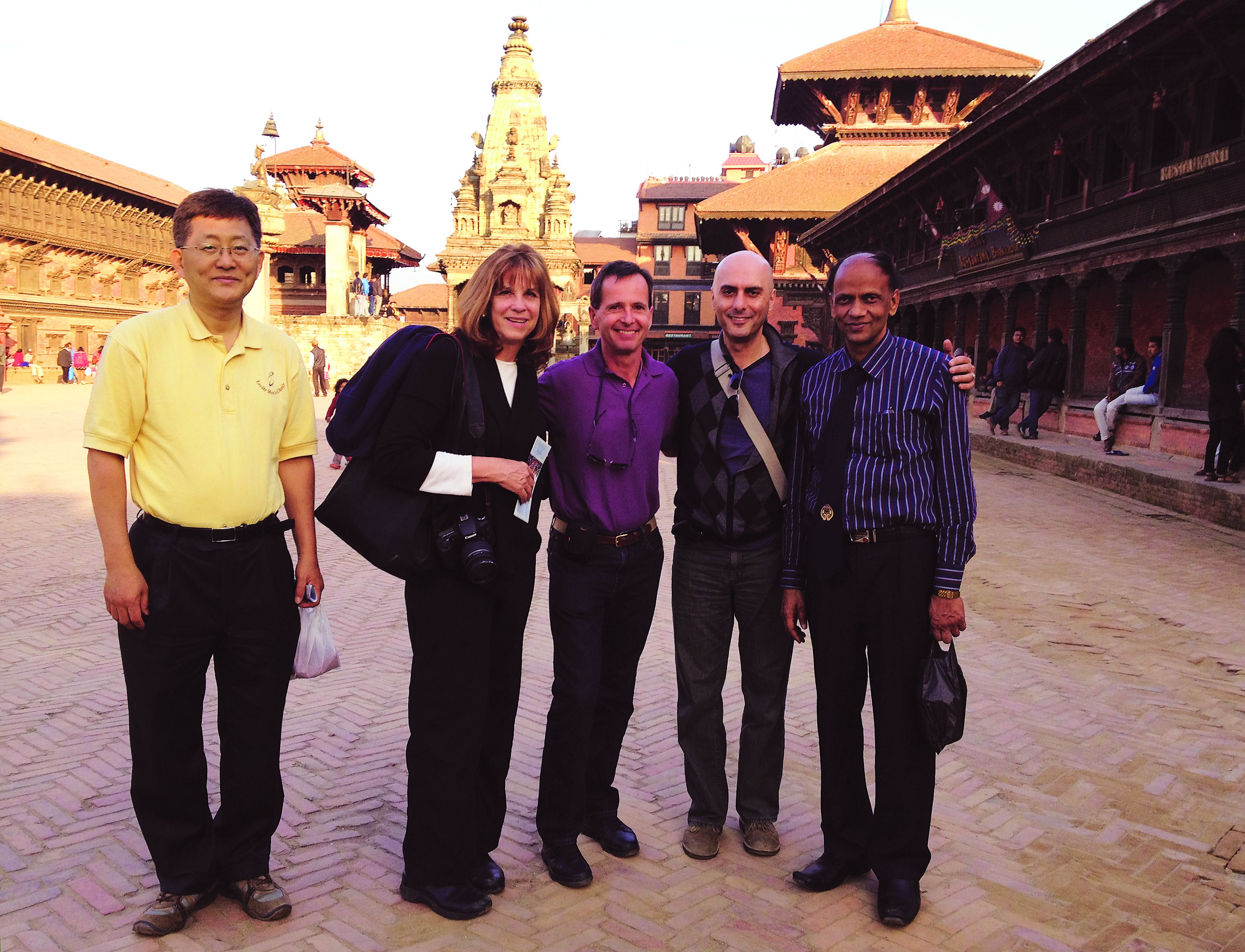 IVP Nepal Host and Dr. Roberts visiting Bhaktapur