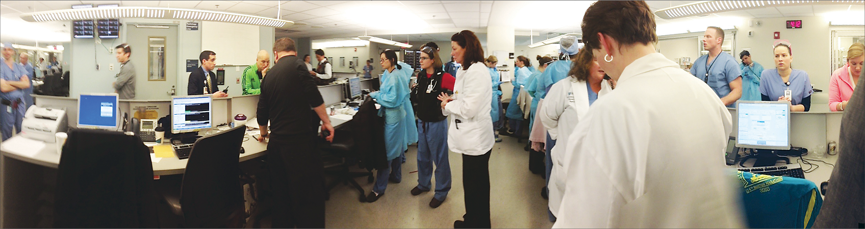 Staff in the Emergency Department at Massachusetts General Hospital