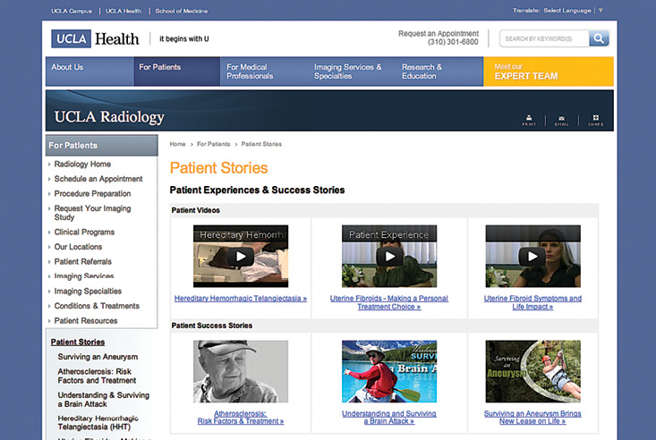 UCLA Radiology website